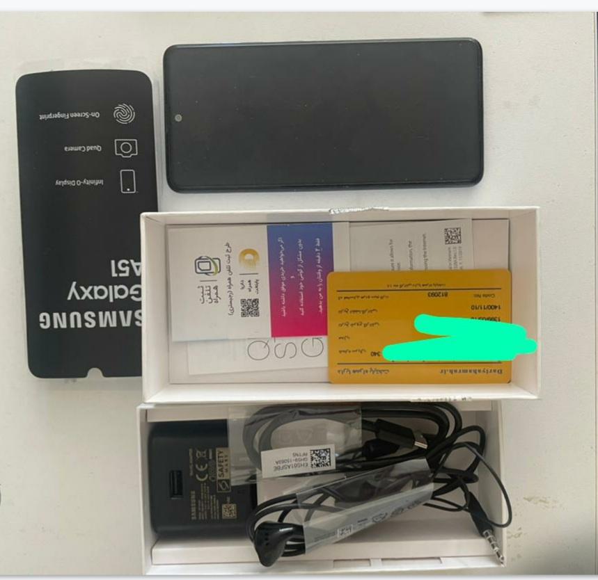 فروش گوشی سامسونگ مدل A51 باحافظه داخلی ۱۲۸